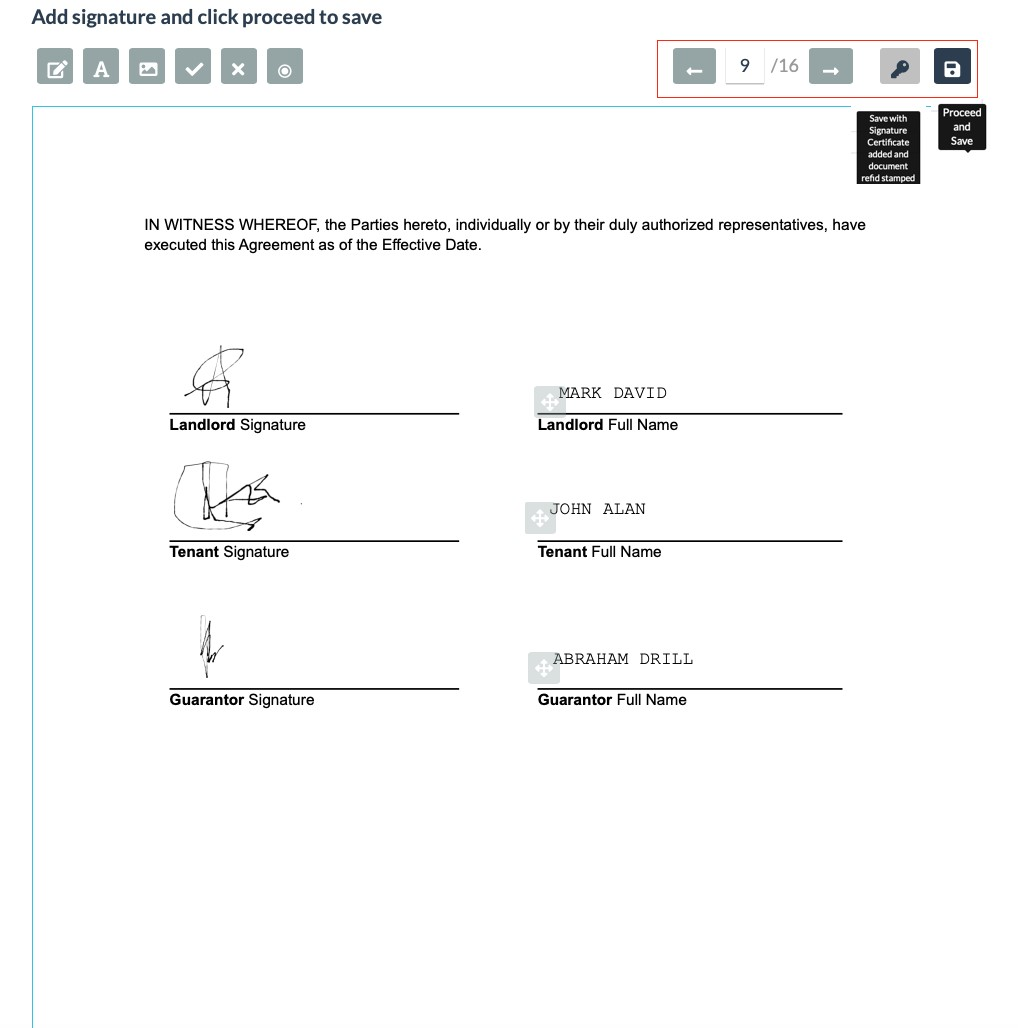 A Signed Real-Estate Lease Agreement Document