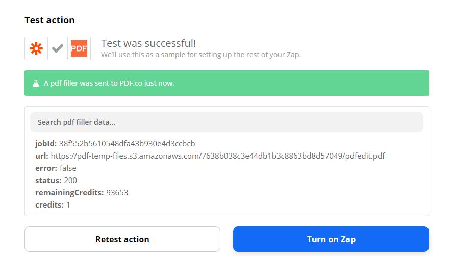 PDF.co Test Succcessful