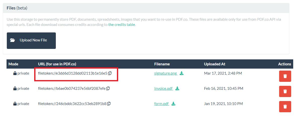 Upload Signature To PDF.co File Storage