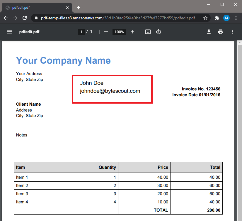 PDF Filled With DocuSign Data