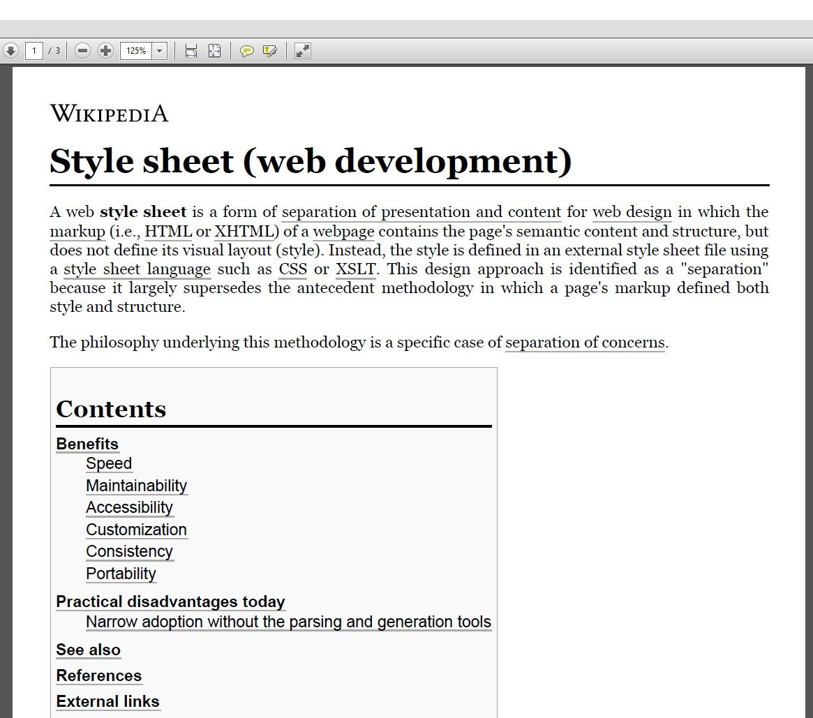 HTML to PDF Output