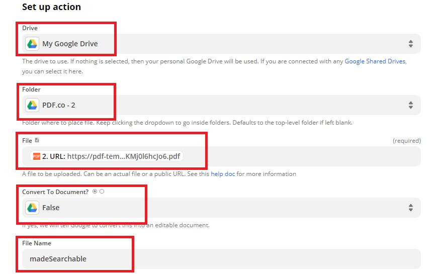 Setup Google Drive Folder To Store File