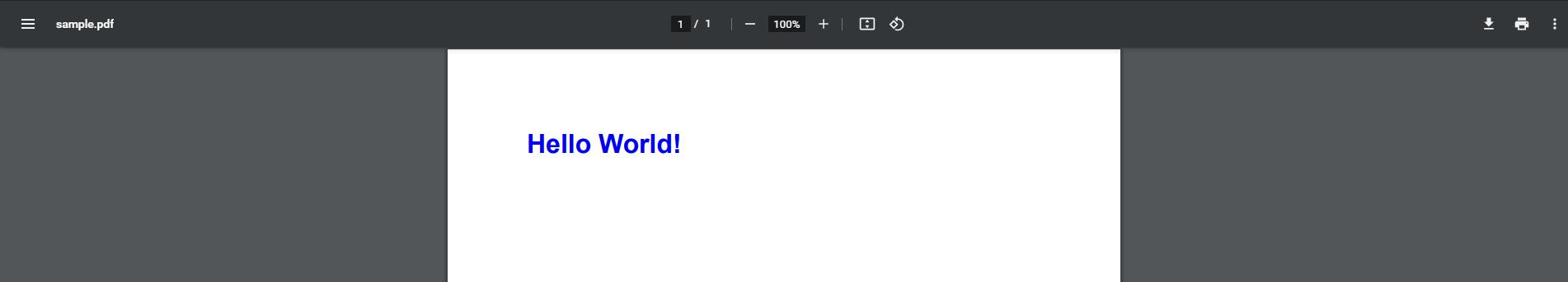 Screenshot of Sample PDF