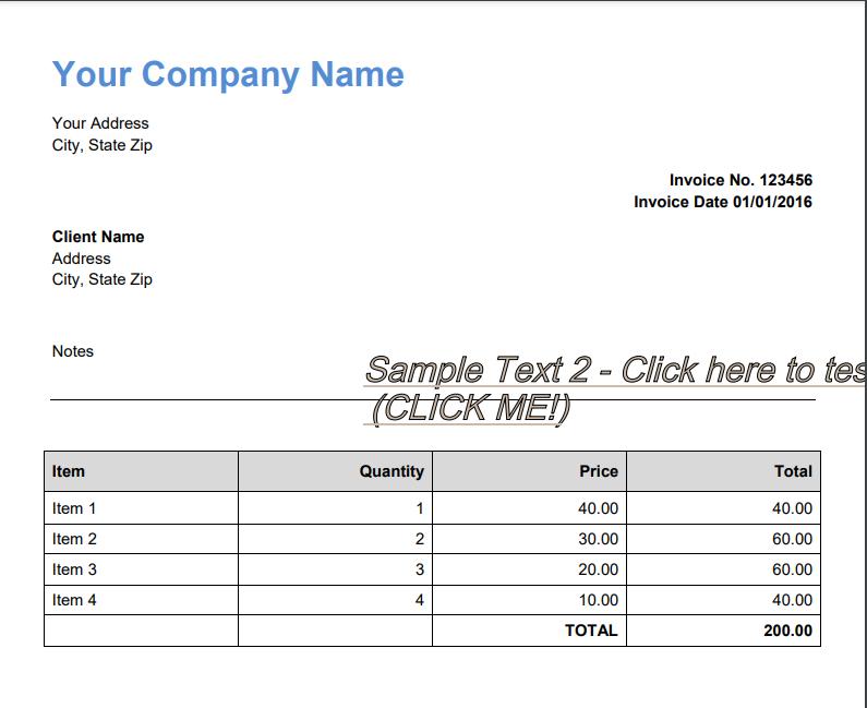 Screenshot of Output PDF