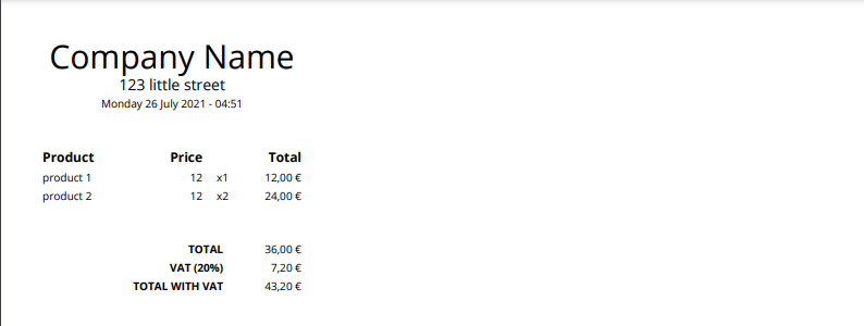 Screenshot of PDF Monkey Output using a default Template