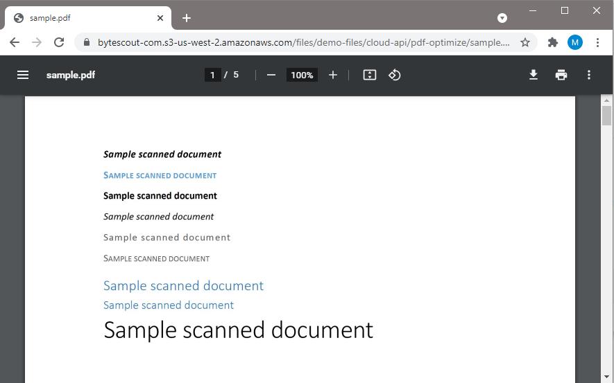 PDF Compressor API Sample PDF