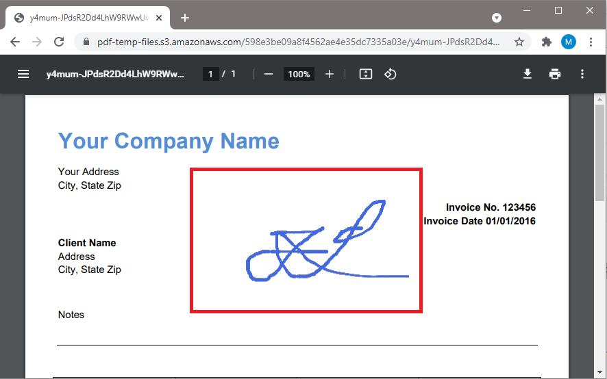 Microsoft Lens File Signed Using PDF.co PDFFiller