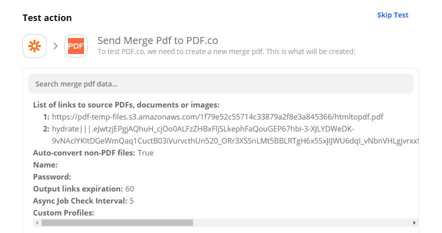 Send PDF Merger To PDF.co To Test