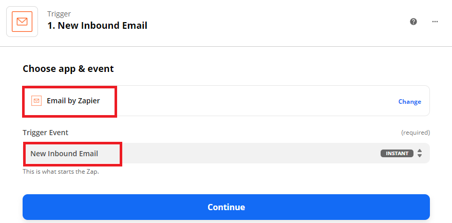 Setup Email By Zapier