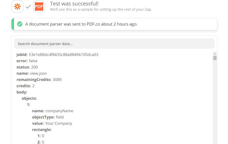 Document Parser Output