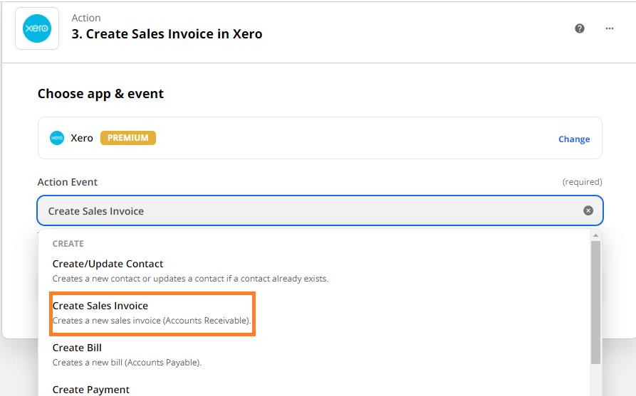 Create Sales Invoice