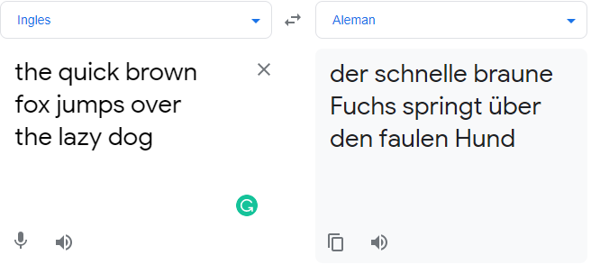 Translation using Google Translate