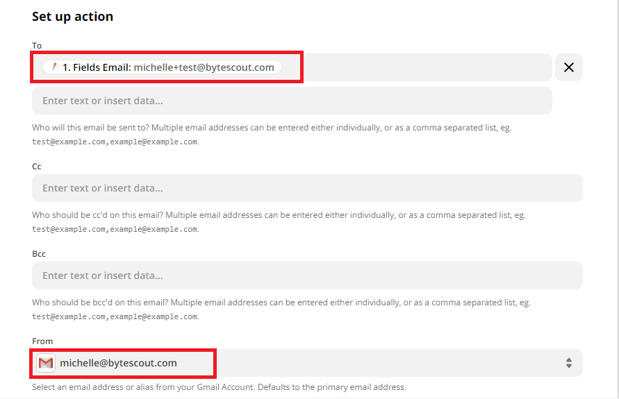 Gmail Send Email Configuration