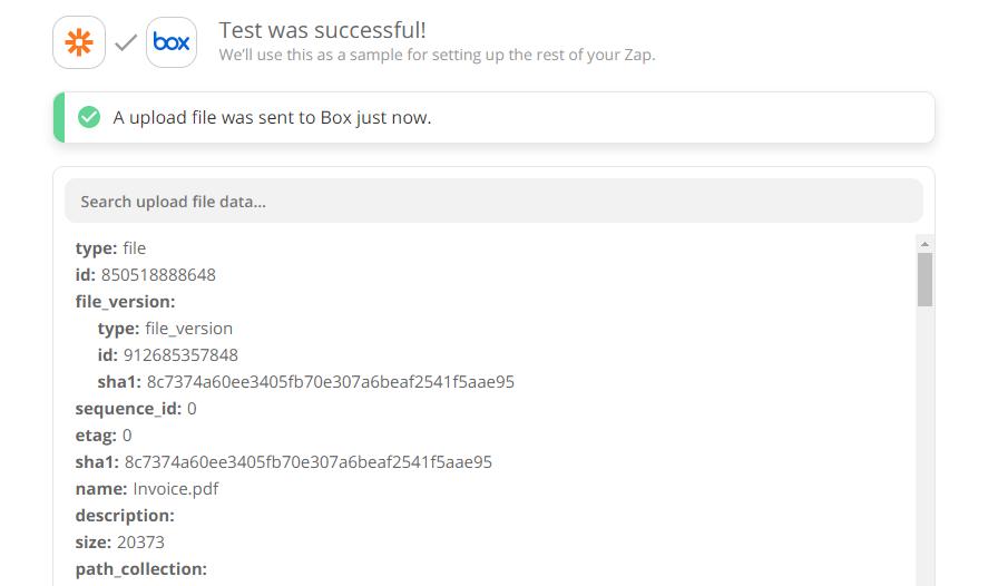 Box Upload File Test Successful