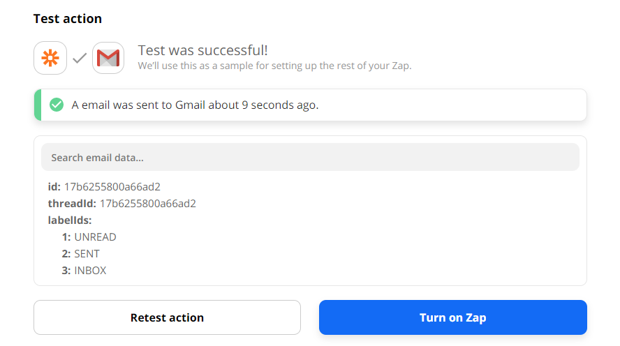 Gmail Email Test Success