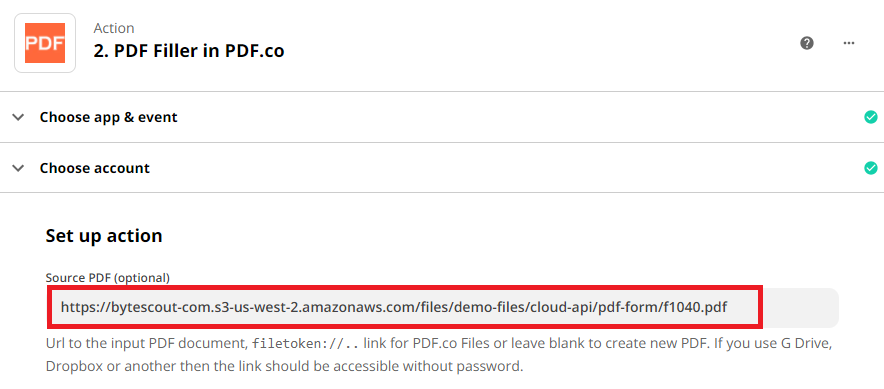 Enter The Source File URL