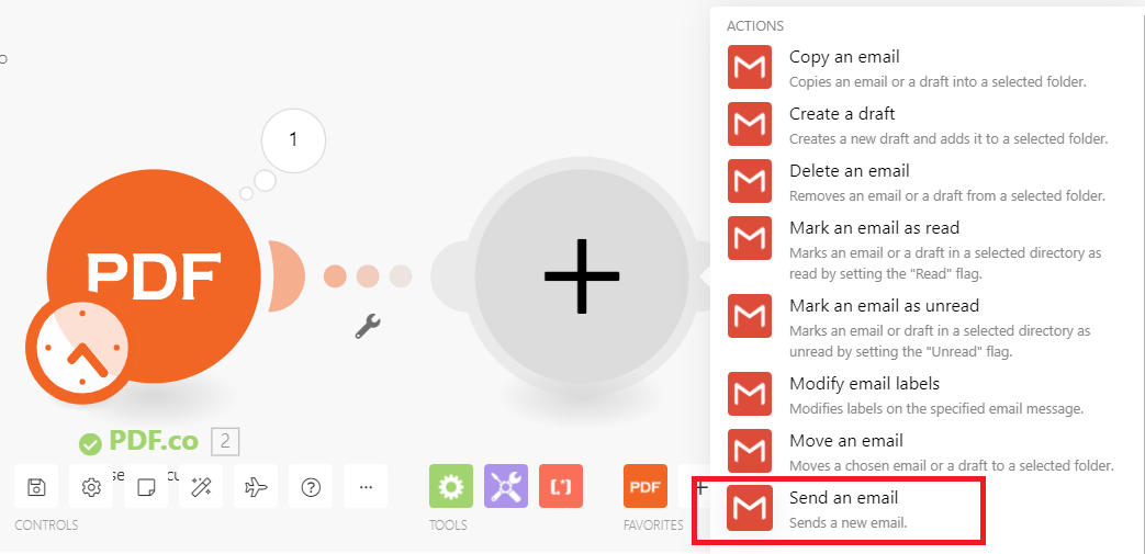 Use Gmail To Send Parsed Data