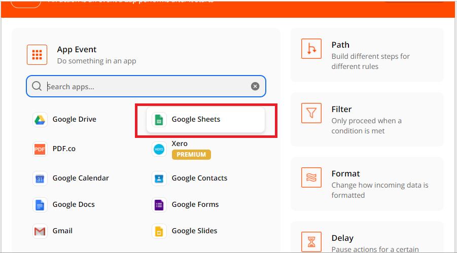 Google Sheets App Event