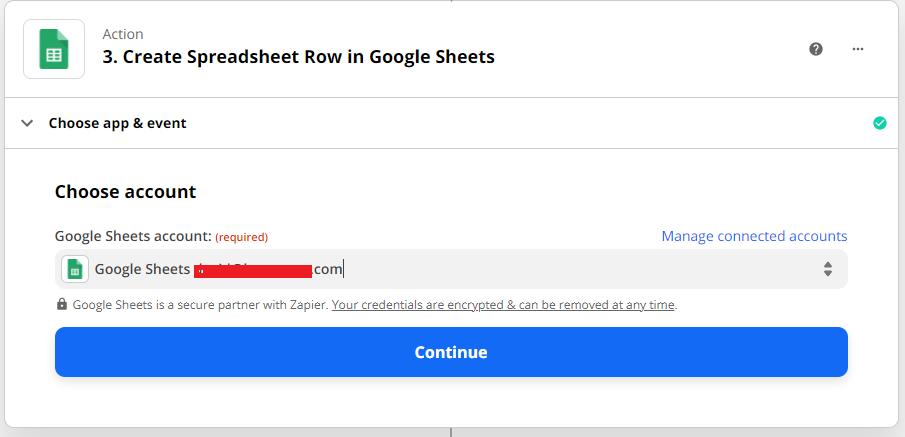 Google Sheets Account