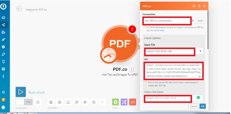 PDF.co Import Option