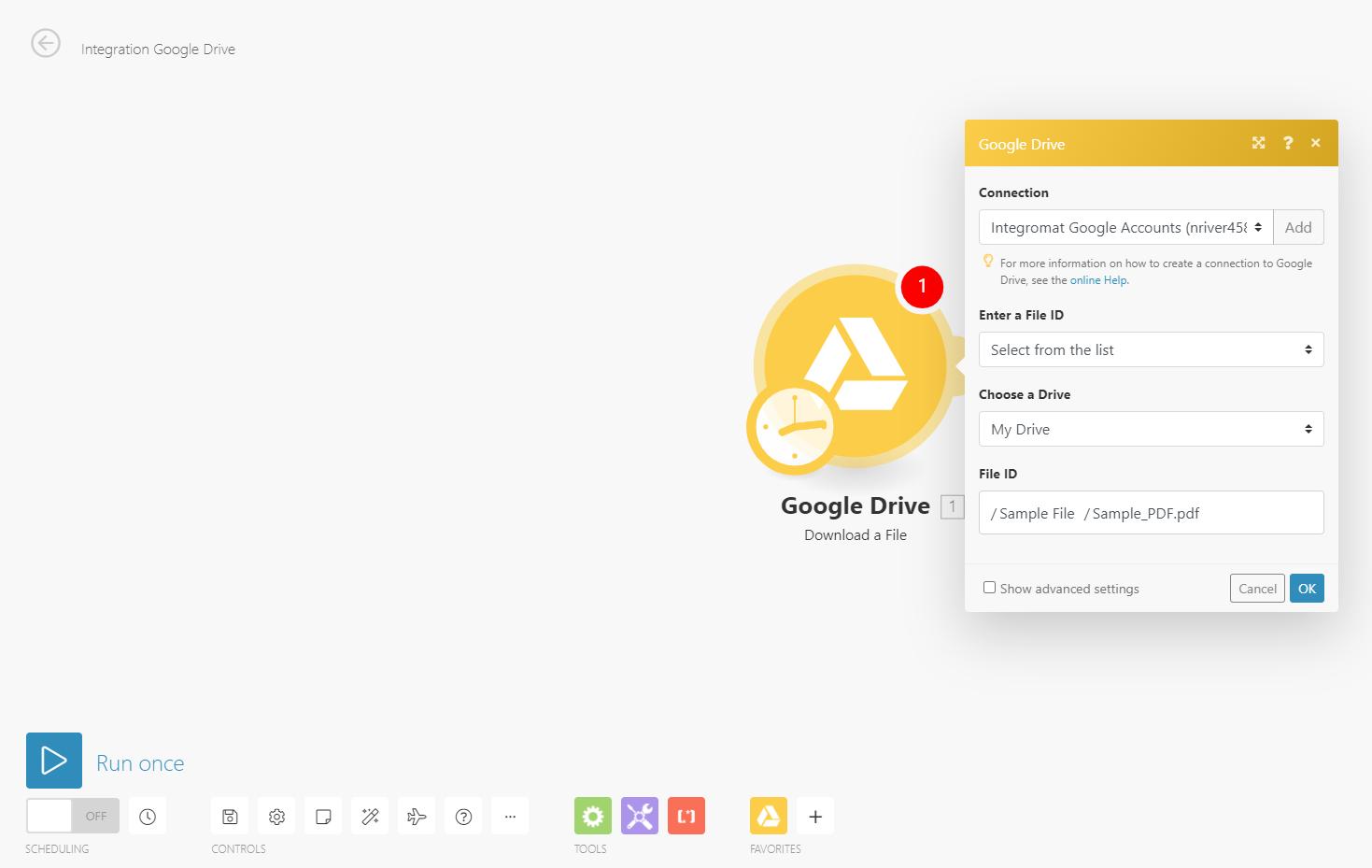Setting up the google drive module
