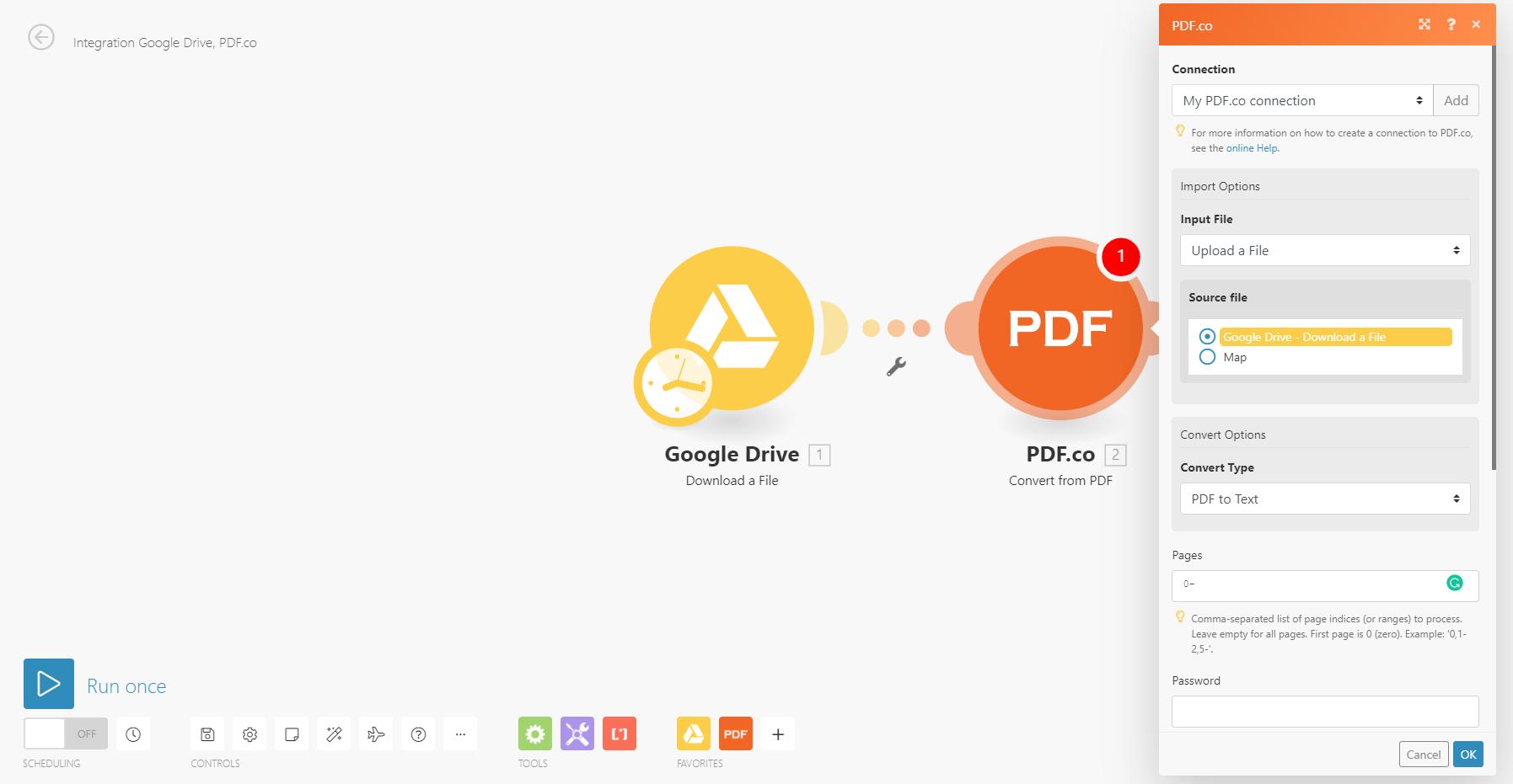 Setup the PDF.co module
