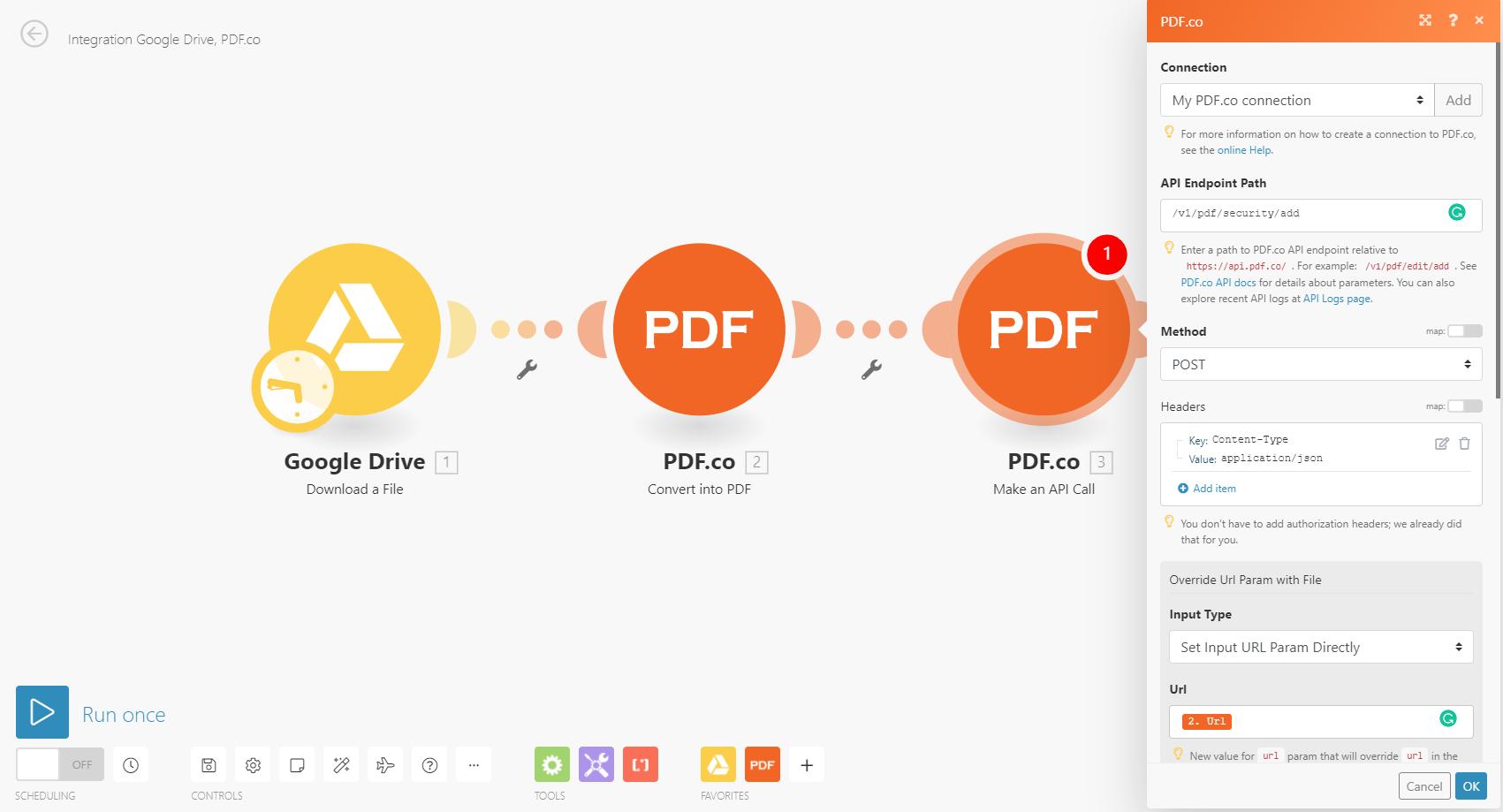 Setup the 2nd PDF.co module