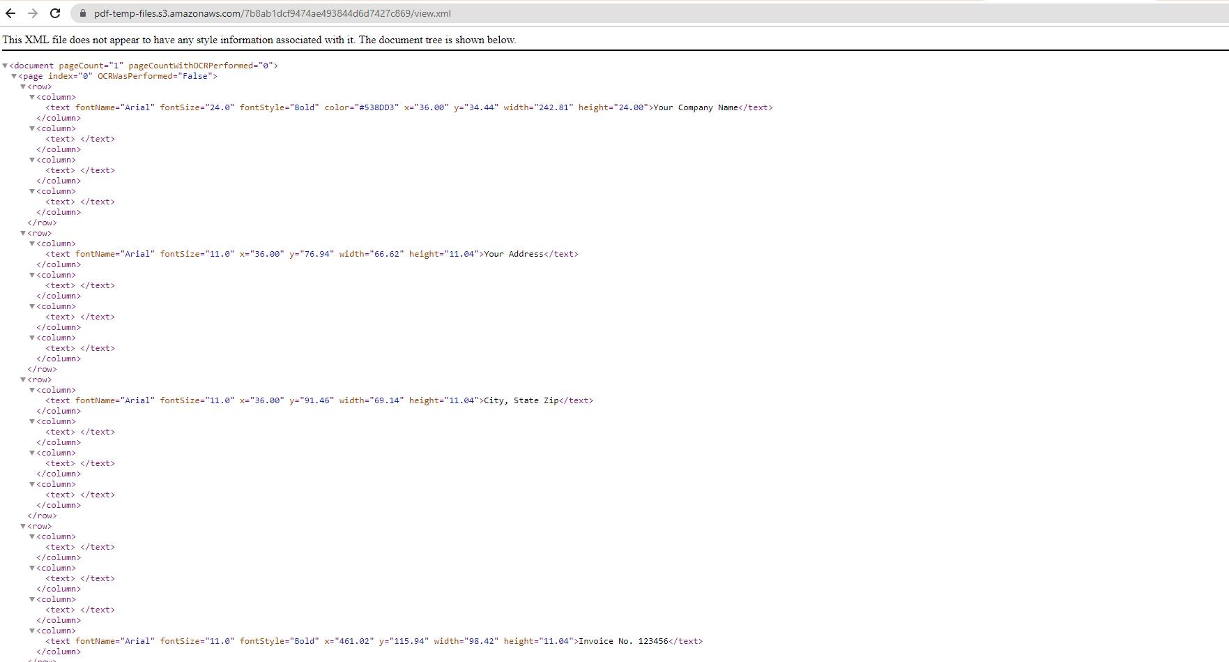 Source File Output