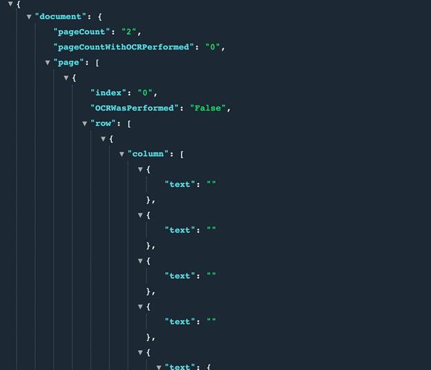 PDF to JSON Code