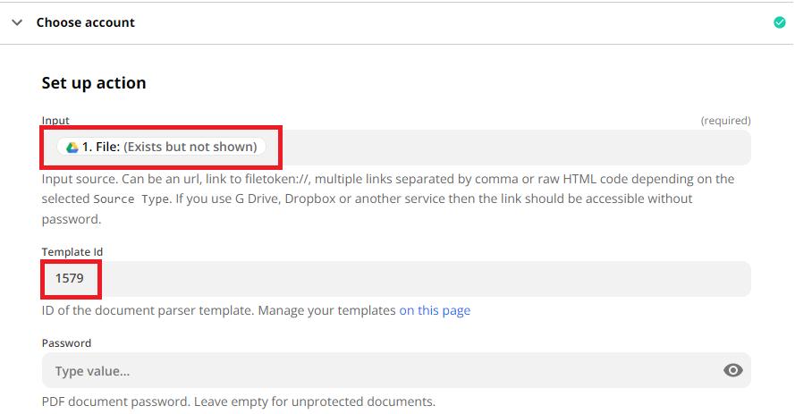 Configure Document Parser