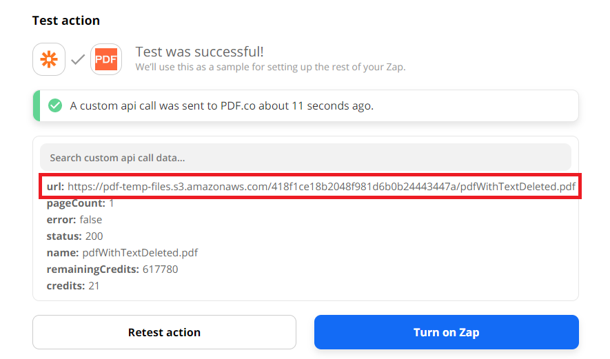 PDF.co Generated URL