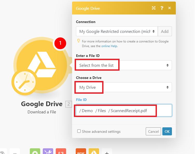 Configure Google Drive Module