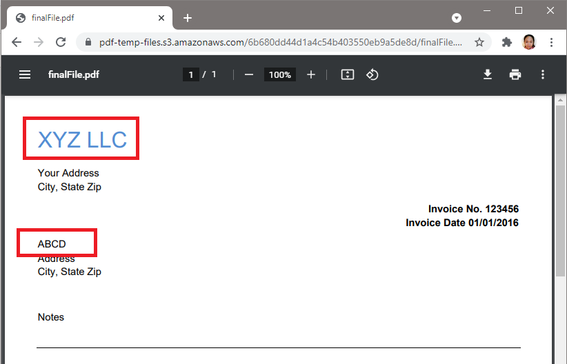 PDF.co Search And Replace Text Output
