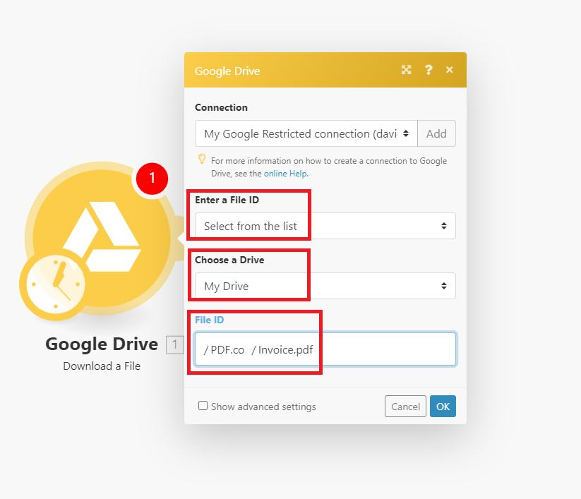 Google Drive Connection
