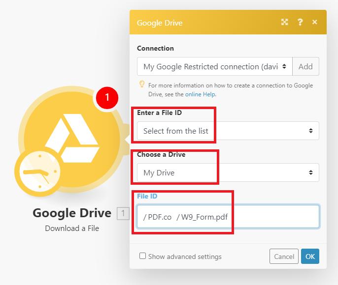 Google Drive Configuration