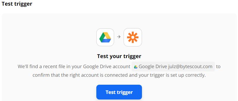 Test trigger