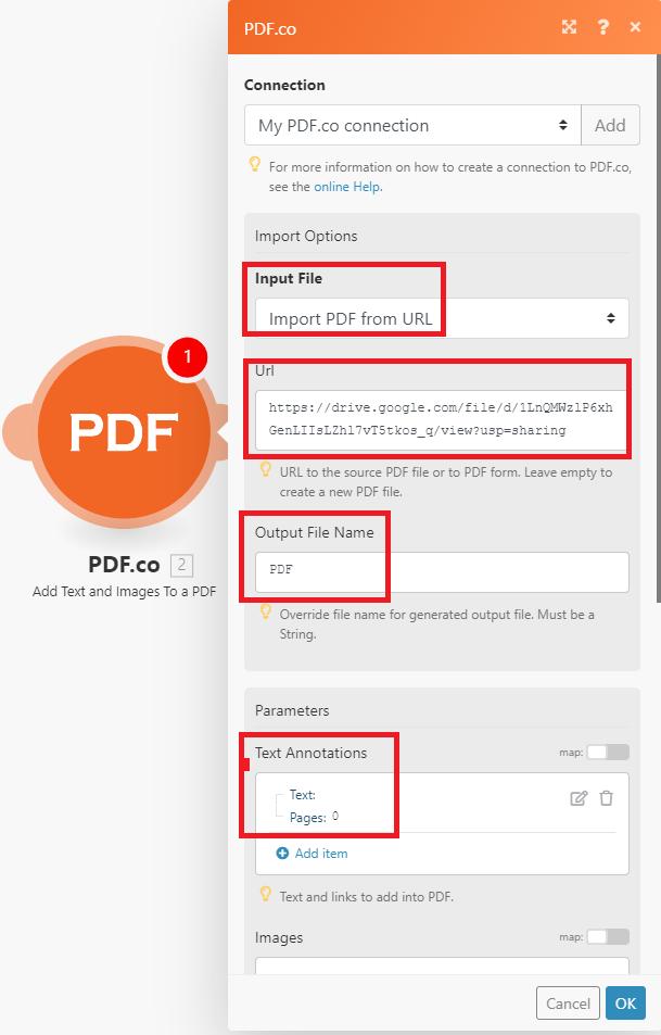 PDF.co Configuration
