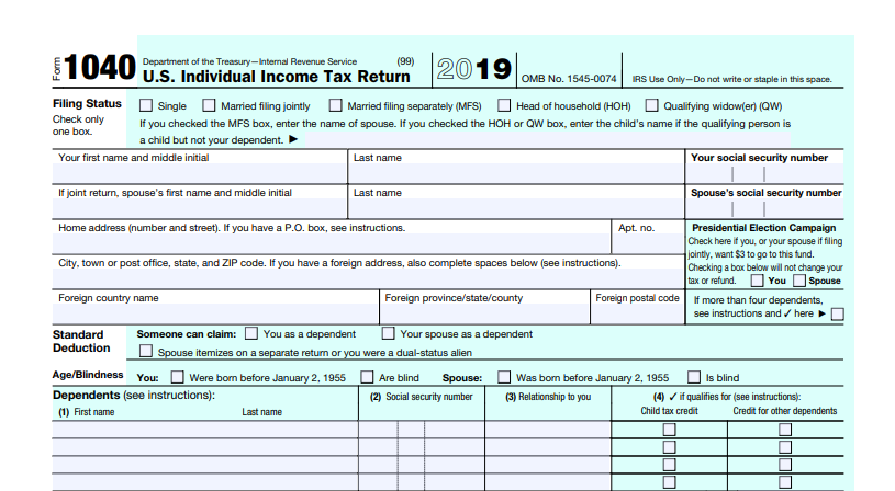 Screenshot of the Sample Fillable Form