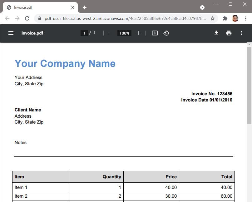 Sample Scanned PDF Invoice
