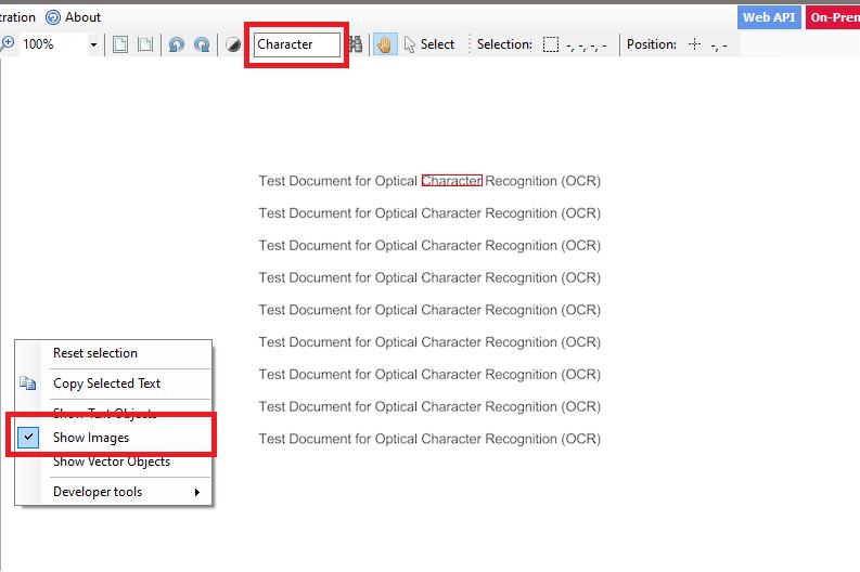 Searchable PDF Output